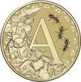 Австралия 1 доллар 2017.Алфавит – A – Муравей (Блистер).Арт.000086253541/60