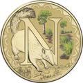 Австралия 1 доллар 2017.Алфавит – N – Муравьед (Блистер).Арт.000086253555/60