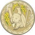 Австралия 1 доллар 2017.Алфавит – W – Вомбат (Блистер).Арт.000086253564/60