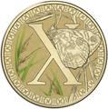 Австралия 1 доллар 2017.Алфавит – X – Бабочка (Блистер).Арт.000086253565/60