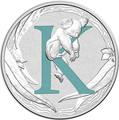 Австралия 1 доллар 2017.Алфавит – K – Коала.Арт.000272953525/60