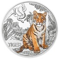 Австрия 3 евро 2017 Тигр (Colourful Creatures The Tiger).Арт.60