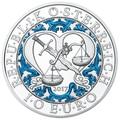 Австрия 10 евро 2017 Архангел Михаил ангел-хранитель серия Ангелы — Небесные покровители.Арт.60