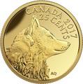 Канада 25 центов 2017.Лиса.Арт.60