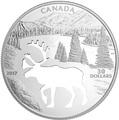 Канада 30 долларов 2017.Олень Карибу - Силуэт.Арт.60