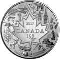 Канада 3 доллара 2017 Символы Канады – 150 лет празднования Канады (Блистер).Арт.60