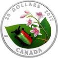 Канада 20 долларов 2017 Золотистый жук (Dogbane Beetle) Муранское стекло.Арт.60
