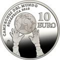 Испания 10 евро 2010 Футбол – Чемпионат мира Южная Африка 2010.Арт.60