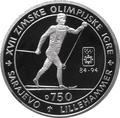 Босния и Герцеговина 750 динаров 1993 Лыжные гонки - Зимние Олимпийские игры 1994 в Лиллехаммере.Арт.000336137692/60