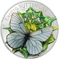 Монголия 500 тугриков 2017 Бабочка 3D Боярышница (Aporia crataegi) – Экзотические бабочки.Арт.000396354016/60