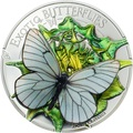 Монголия 500 тугриков 2017 Бабочка Боярышница серия Экзотические Бабочки 3D (Mongolia 500T 2017 Exotic Butterflies Aporia Crataegi 3D Silver Coin).Арт.000396354016/60