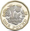 Великобритания 1 фунт 2017 Новый фунт Символы Королевства (Биметалл).Арт.000062853971/60