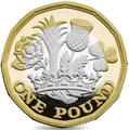 Великобритания 1 фунт 2017 Новый фунт Символы Королевства.Арт.000435353973/60