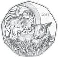 Австрия 5 евро 2017 Пасхальный Ягненок (Буклет).Арт.000095853929/60