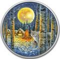 Канада 30 долларов 2017 Рысь в лунном свете.Арт.000753053944/60