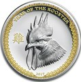 Палау 5 долларов 2017 Год Петуха – Лунный календарь.Арт.000461753995/60