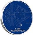Ниуэ 2 доллара 2017 Звездные войны – Космический корабль Тысячелетний Сокол (Millennium Falcon).Арт.000408953984/60