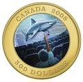 Канада 300 долларов 2008 Акула (Голограмма).Арт.K2,6G3380D/18234/60