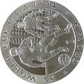 Остров Мэн 1 крона 1994 Футбол Чемпионат мира в США (игрок и вратарь).Арт.000148654049/60