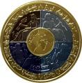 Остров Мэн 1 крона 2008 Международный год планеты Земля (Титан четыре цвета).Арт.K1,4G1820D/31760/65