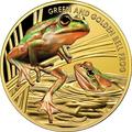 Ниуэ 100 долларов 2017 Лягушка Золотистая Литория (Green and Golden Bell Frog).Арт.60