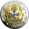 Гибралтар 1 крона 2001 Двадцать первый век Три металла.Арт.60
