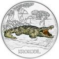 Австрия 3 евро 2017 Крокодил (Colourful Creatures The Crocodile).Арт.60