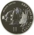 Канада 20 долларов 2009 Жак Картье Корабль.Арт.000958453913/60
