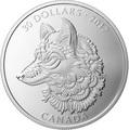 Канада 30 долларов 2017 Волк (Canada 30$ 2017 Wolf 2 oz Silver Coin).Арт.000703854364/60