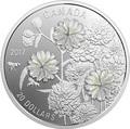 Канада 20 долларов 2017 Перламутровый цветок Тысячелистник птармика (achillea ptarmica).Арт.60