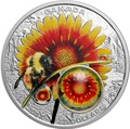 Канада 20 долларов 2017 Шмель (Пчела) цветок Дейзи серия Красота под солнцем (3D капля).Арт.60
