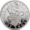 Великобритания 2 фунта 2017 Лев серия Звери Королевы (GB 2£ 2017 Queen's Beast The Lion of England).Арт.60