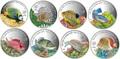 Палау 8х5 долларов 2016 Морская жизнь Красного моря Red Sea Marine Life (набор 8 монет).Арт.60