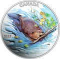 Канада 10 долларов 2017 Бобр с веткой.Арт.60