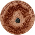 Ниуэ 1 доллар 2017 Метеоритный кратер Госсес Блафф (GOSSES BLUFF Meteorite Crater).Арт.60