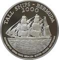 Бермуды 1 доллар 2000 Большой трехмачтовый парусный корабль.Арт.000271237223/60