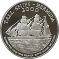 Бермуды 1 доллар 2000 Большой Трехмачтовый Парусный Корабль (Bermuda 1$ 2000 Tall Ships Silver Coin).Арт.000271237223/60