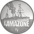 Франция 50 евро 2013 Корабль Амазонка (L'Amazone) серия Великие корабли Франции.Арт.001183344851/60