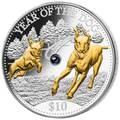 Фиджи 10 долларов 2018 Год Собаки Лунный календарь (Жемчужина).Арт.60