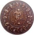 Либерия 5 долларов 2006 Футбол Чемпионат мира в Германии.Арт.60