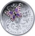 Канада 20 долларов 2017 Бабочка серия Насекомые из Драгоценных Камней (Canada 20$ 2017 BUTTERFLY Bejeweled Bugs Silver Coin).Арт.60