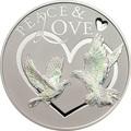 Токелау 5 долларов 2012 Мир и Любовь – Голуби (Peace and Love) Голограмма.Арт.60