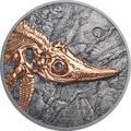 Монголия 500 тугриков 2017 Ихтиозавр Эволюция (Mongolia 500T 2017 Ichthyosaur Evolution 1oz Silver).Арт.60