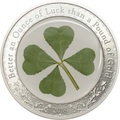 Палау 5 долларов 2018 Клевер – Унция удачи (Palau 5$ 2018 Ounce of Luck 4-leaf clover).Арт.60