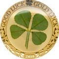 Палау 1 доллар 2018 Клевер На удачу (Palau 1$ 2018 Good Luck 4-leaf clover).Арт.60