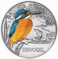 Австрия 3 евро 2017 Зимородок (Colourful Creatures The Kingfisher Austria 3 euro 2017).Арт.60