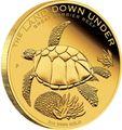 Австралия 200 долларов 2014 Черепаха серия Большой Барьерный риф (Australia 200$ 2014 Turtle The Land Down Under – Great Barrier Reef 2014 2oz).Арт.60