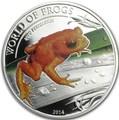 Палау 2 доллара 2014 Оранжевая жаба серия Мир Лягушек (Palau 2$ 2014 Bufo Periglenes World of Frogs).Арт.000226048907/60
