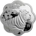 Канада 15 долларов 2018 Год Собаки – Лунный календарь серия Лотос (Canada 15$ 2018 Year of the Dog Lunar Lotus).Арт.60