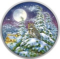 Канада 30 долларов 2017 Ушастая Сова в Лунном свете (Canada 30$ 2017 Glow-In-The-Dark Coin - Animals in the Moonlight Great Horned Owl).Арт.60